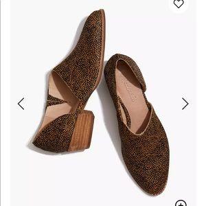 Madewell spotty calf hair asymmetrical shoes sz 9
